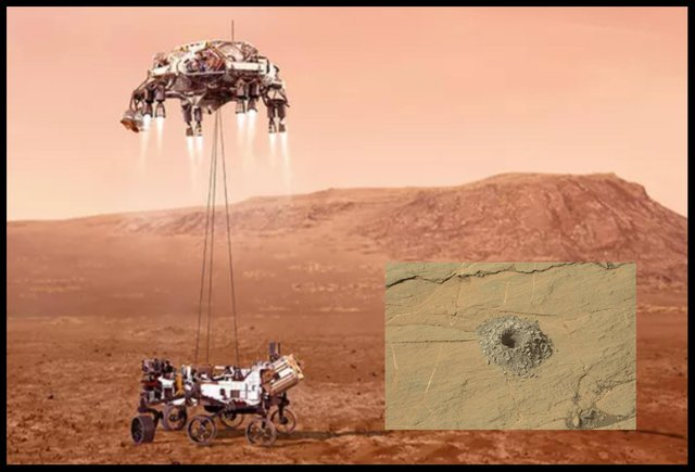 Nasa's Curisoity rover drilled sites on the Martian surface in 2020 named Edinburgh and Glasgow.