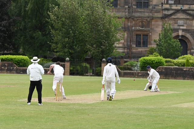 Action from Hamilton Crescent as West of Scotland enjoyed a 106-run victory over Dumfries. Picture: John Devlin