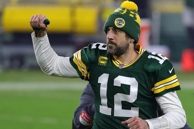 Aaron Rodgers guided the Green Bay Packers into the NFC Championship game with a win over Los Angeles Rams at Lambeau Field. Picture: Stacy Revere/Getty Images