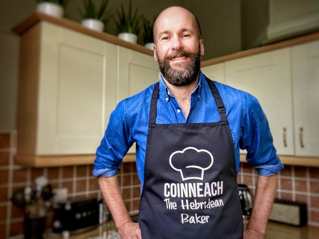 Coinneach MacLeod, aka The Hebridean Baker, stirs stories, music and Gaelic into his one-minute recipe demonstrations.