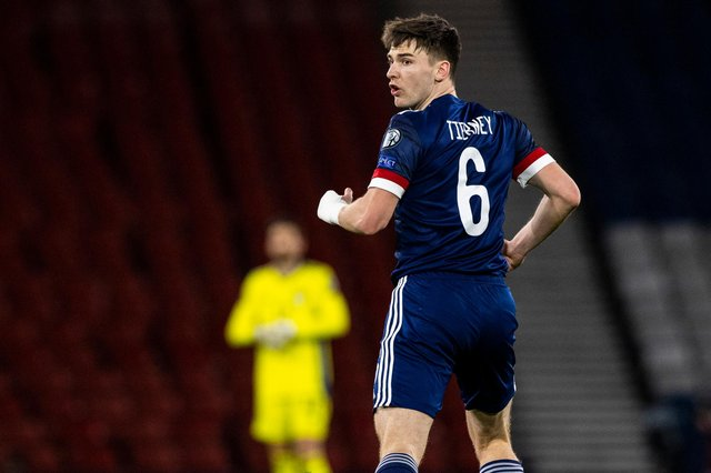 Kieran Tierney provided three assists in Scotland's 4-0 win over the Faroe Islands (Photo by Craig Williamson / SNS Group)