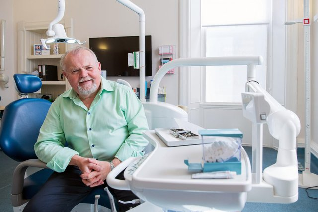 Jim Hall, founder and chief executive of the Glasgow-based Clyde Munro dental group. Picture: Ian Georgeson