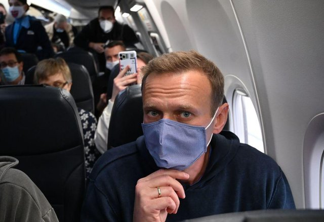 Alexei Navalny was arrested on his return to Russia (Getty Images)
