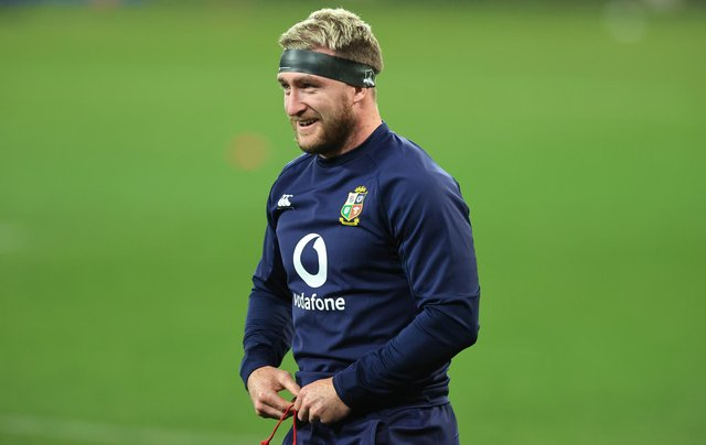 Stuart Hogg did some training on the pitch ahead of the Lions' match against South Africa A. Picture: David Rogers/Getty Images