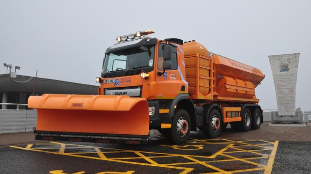 Scotland's Bravest Gritter is among the largest in the UK. Picture: BEAR Scotland