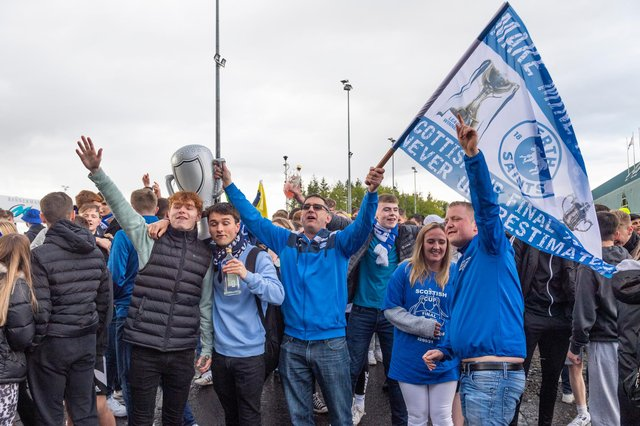 St Johnstone fans celbrate their Scottish Cup win. Picture: SNS