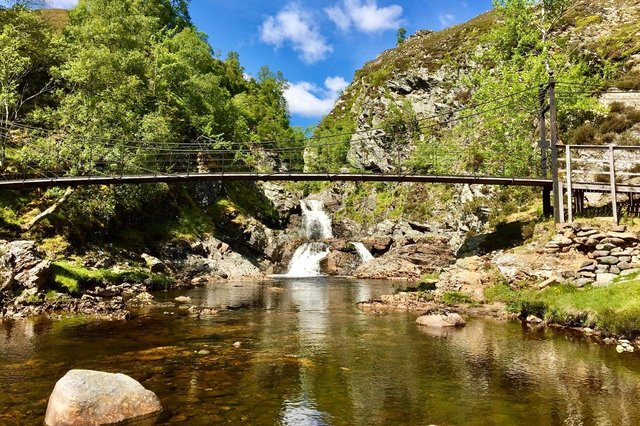 Crieff & Strathearn Drovers' Tryst walking festival is back this year after 2020 events were cancelled due to the coronavirus pandemic, with adventures to stunning locations such as the Falls of Tarf. Photo: Gil Martin