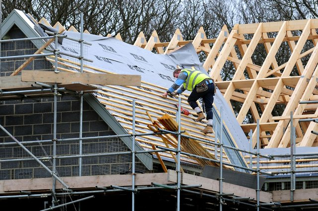The latest PMI report said that the leap in output was particularly driven by the housebuilding sector, which posted a 68.2 reading for the month. Picture: Rui Vieira/PA Wire