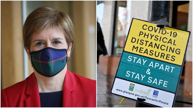 Nicola Sturgeon announced at her last Covid update that Glasgow would remain in Level 3 (Photo: Getty Images)
