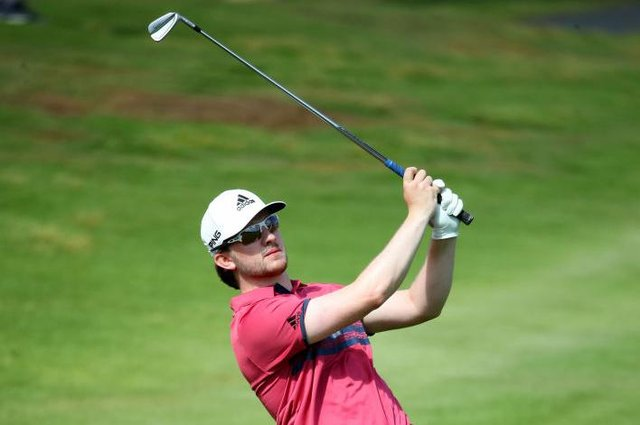 Connor Syme in action during the Gran Canaria Open at Meloneras Golf Club in Maspalomas. Picture: Warren Little/Getty Images.