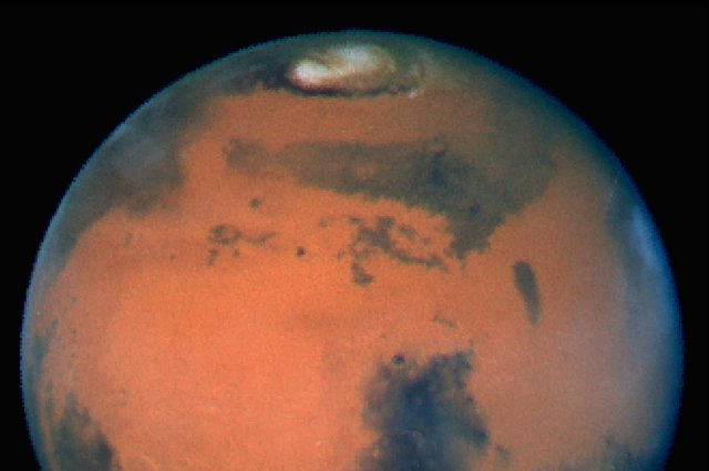 A photograph of Mars taken by Nasa's Hubble Space Telescope (Picture: Nasa/Getty Images)