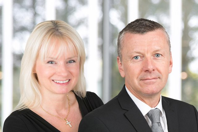 Lynn Gracie and Stuart Petrie of Anderson Anderson & Brown (AAB), the accountancy and business advisory firm.