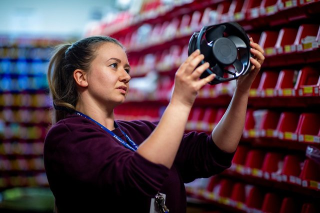 Carla Becci, engineering stores co-ordinator at Thistle Seafoods - which says it is always on the lookout for good engineers. Picture: contributed.