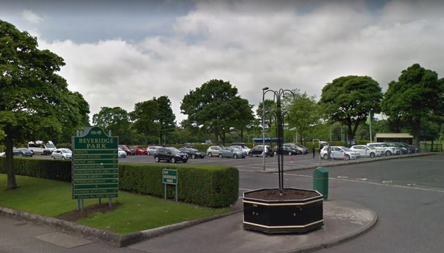 Beveridge Park in Kirkcaldy where a blind man was assaulted picture: Google Images