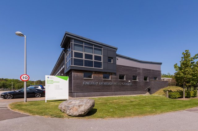 Moorfield Group, the owner and landlord of Aberdeen Energy and Innovation Parks, has agreed lease renewal terms and an expansion with Kaseum Technology at the Energy Development Centre (EDC), pictured, in Bridge of Don. Picture: Simon Price