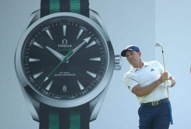Sergio Garcia plays in the pro am ahead of the Omega Dubai Desert Classic at Emirates Golf Club. Picture: Warren Little/Getty Images.