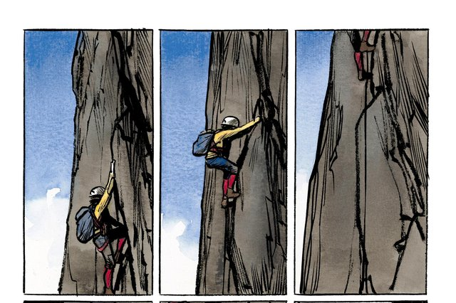 Panels from Altitude, by Jean-Marc Rochette