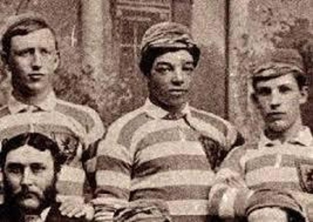 Andrew Watson (centre) is thought to be the first black international footballer.
