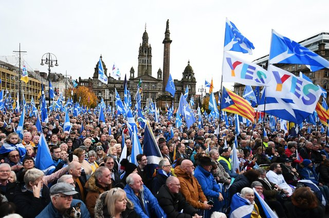 An indyref2 rally in Glasgow in November, 2019