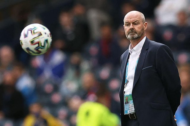 Steve Clarke has some big decisions to make for the match v England. (Photo by LEE SMITH/POOL/AFP via Getty Images)