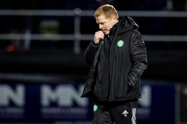 Celtic manager Neil Lennon during his final match in charge, the 1-0 defeat against Ross County at Dingwall. (Photo by Craig Williamson / SNS Group)