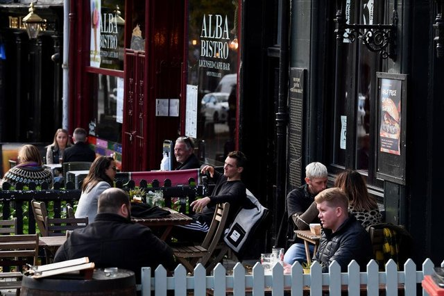 Outdoor hospitality will be able to reopen in Scotland from late April, First Minister Nicola Sturgeon has announced. (Photo by Jeff J Mitchell/Getty Images)