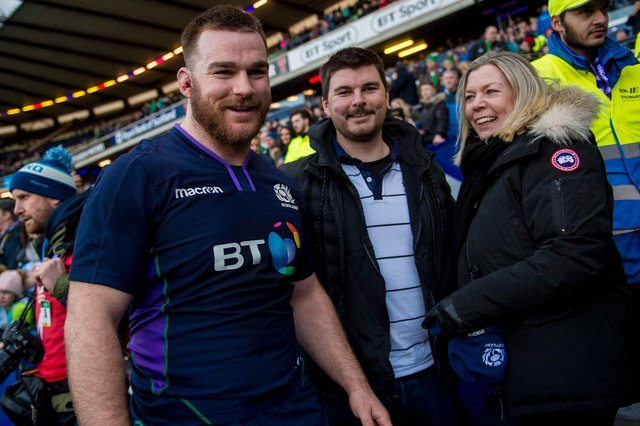 D'arcy Rae after making his Scotland debut against Ireland in 2019. Picture: Bill Murray/SNS