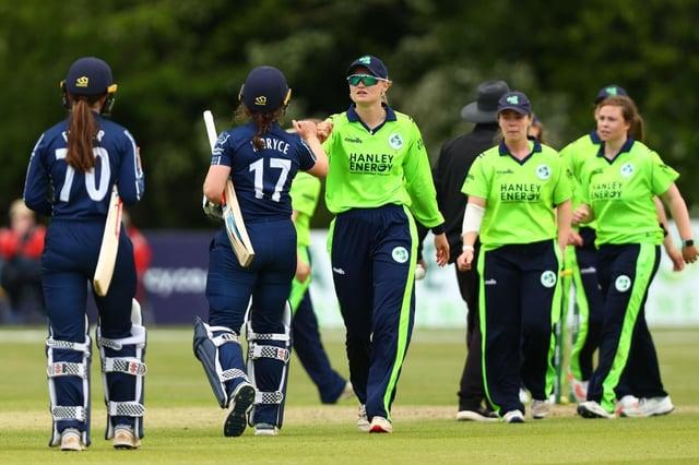 Scotland lost to Ireland by 42 runs in Belfast.