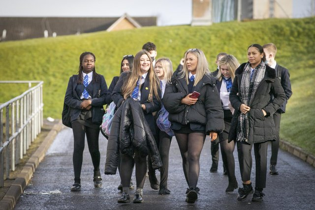 The OECD report recommended changes at the upper end of high schools in Scotland.