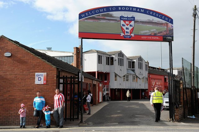 Grounds like Bootham Crescent, York, mean so much to fans.