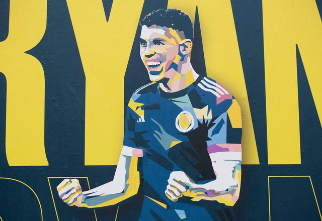 A poster of Ryan Christie in Glasgow as Scotland gears up for the start of Euro 2020. Picture: SNS