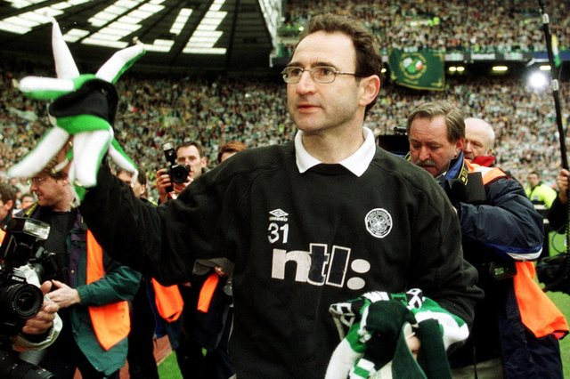 Former Celtic manager Martin O'Neill - one of only three managers with a better start than Livingston's David Martindale
