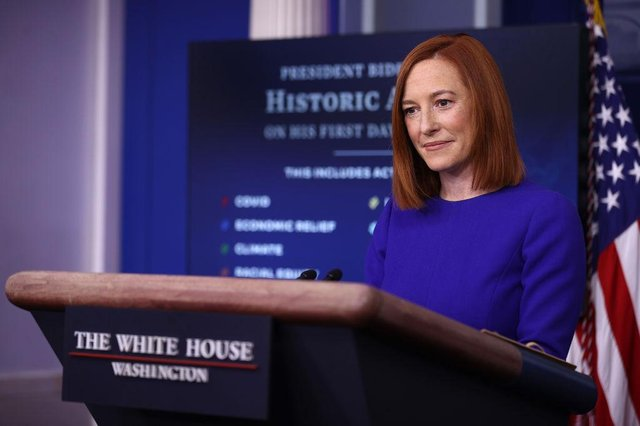 White House Press Secretary Jen Psaki conducts her first news conference of the Biden Administration at the White House on 20 January 2021 (Photo: Chip Somodevilla/Getty Images)