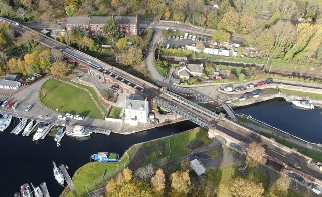 The Bowline scheme will bring the former railway swing bridge into use for the first time in 61 years. Picture: Scottish Canals