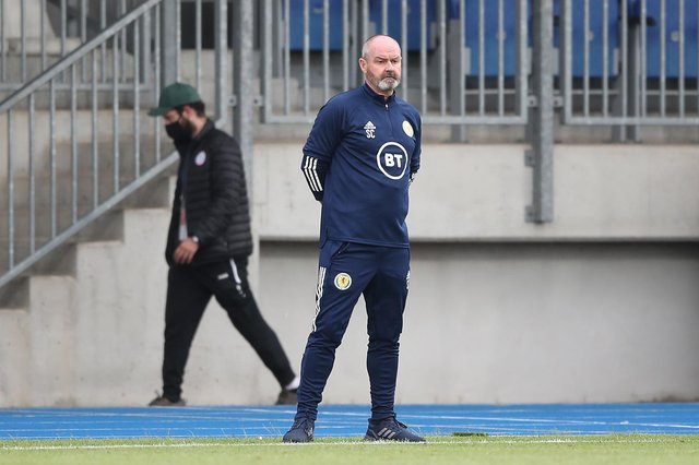 Steve Clarke watches on from the touchline during Scotland's 1-0 win over Luxembourg. (Photo by Christian Kaspar-Bartke/Getty Images)