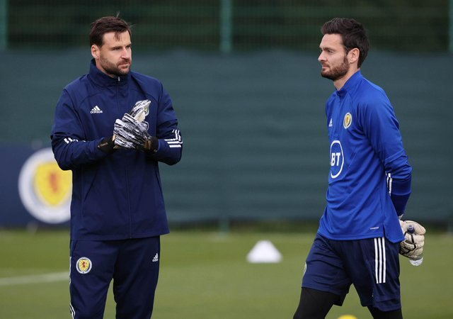 Scotland goalkeepers David Marshall (left) and Craig Gordon.