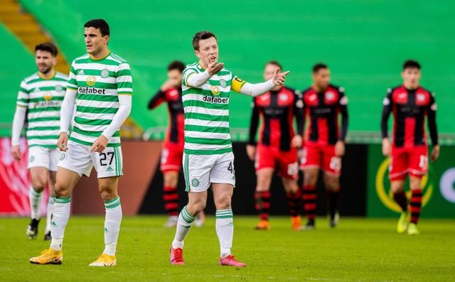 Celtic's Callum Mcgregor shows his frustration after the opener for St Mirren during a Scottish Premiership match between Celtic and St Mirren at Celtic Park, on January 30, 2021, in Glasgow, Scotland. (Photo by Craig Williamson / SNS Group)