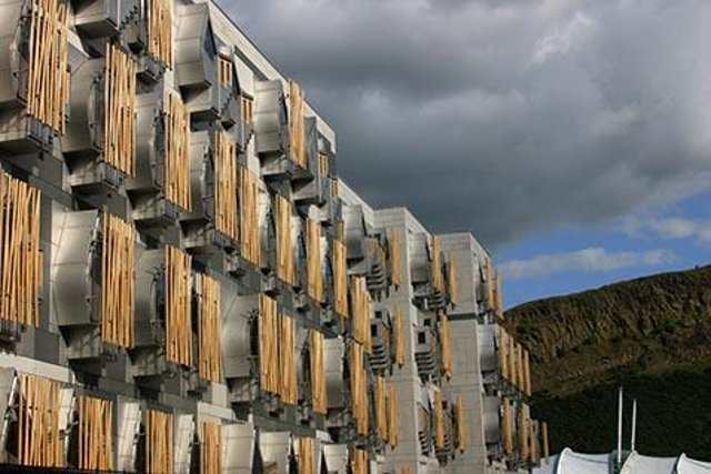 The cases are localised to those working in the upper basement of the Holyrood parliament building (Photo: Scottish Parliament).