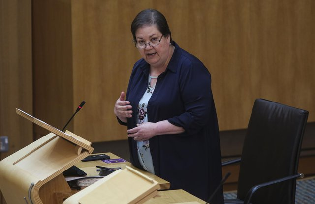 Jackie Baillie at the Scottish Parliament. Picture: PA