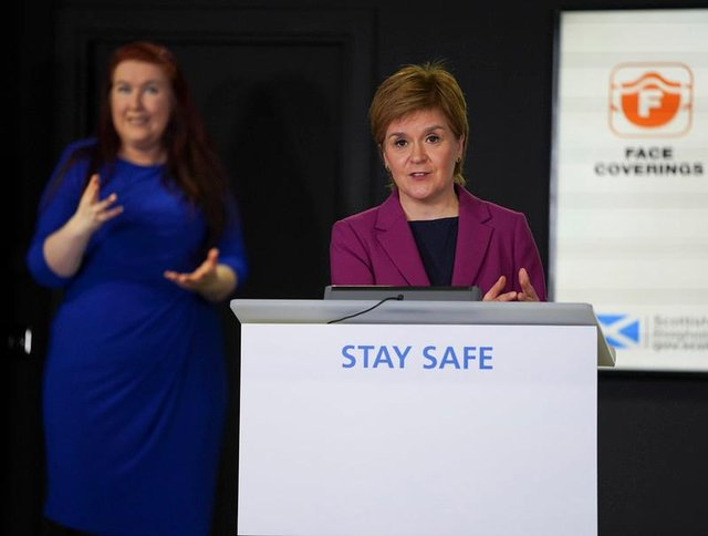 Nicola Sturgeon defended her decision to relax Covid-19 measures