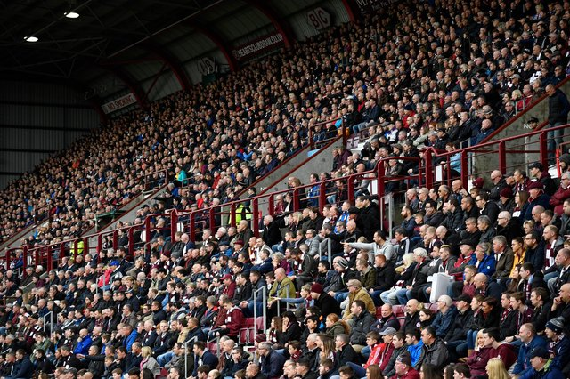 Hearts told it will not be long before they can enjoy packed stands at Tynecastle as restrictions on crowd numbers are lifted. Photo by Rob Casey/SNS Group