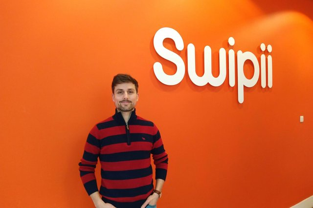 Glasgow-based Swipii was founded by Louis Schena, above, and Chitresh Sharma.