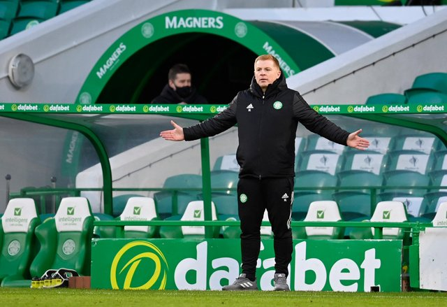 """Neil Lennon was involved in a """"remarkable"""" press conference. Picture: SNS"""