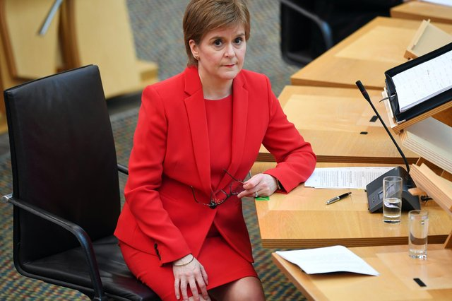 First Minister Nicola Sturgeon attends First Minister's Questions at the Scottish Parliament
