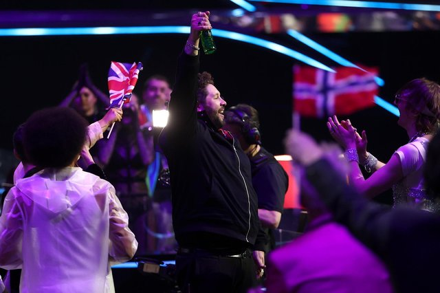 The UK's James Newman reacts after failing to score at the 2021 Eurovision Song Contest (Picture: Dean Mouhtaropoulos/Getty Images)