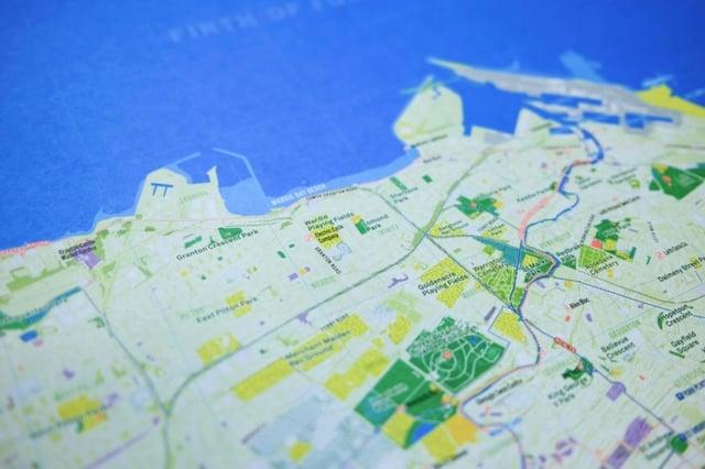Edinburgh Urban Nature Map by Urban Good - coast detail PIC: Charlie Peel