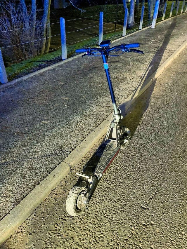 The electric scooter stopped in Dumfries. Picture: Police Scotland