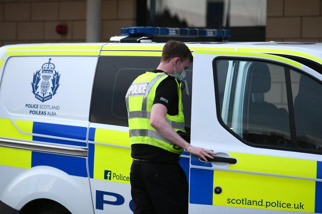 Police are treating a fire at a Renfrew property as attempted murder. Picture: John Devlin.