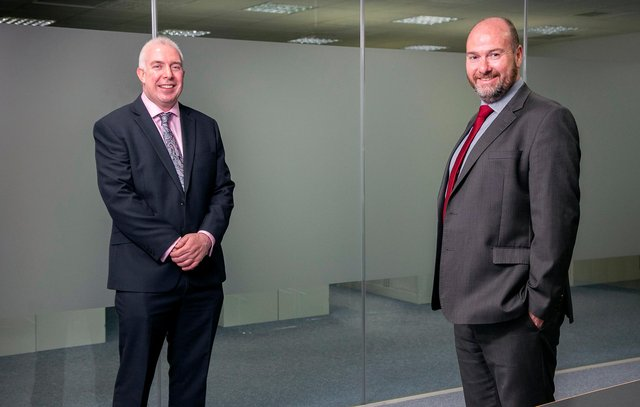 From left: Angus McCuaig, managing partner at Hardie Caldwell, and AAB CEO Graeme Allan. Picture: Rory Raitt.