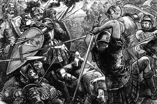 The Battle of Flodden Field in Northumberland, which resulted in a decisive defeat for the Scottish forces under King James IV